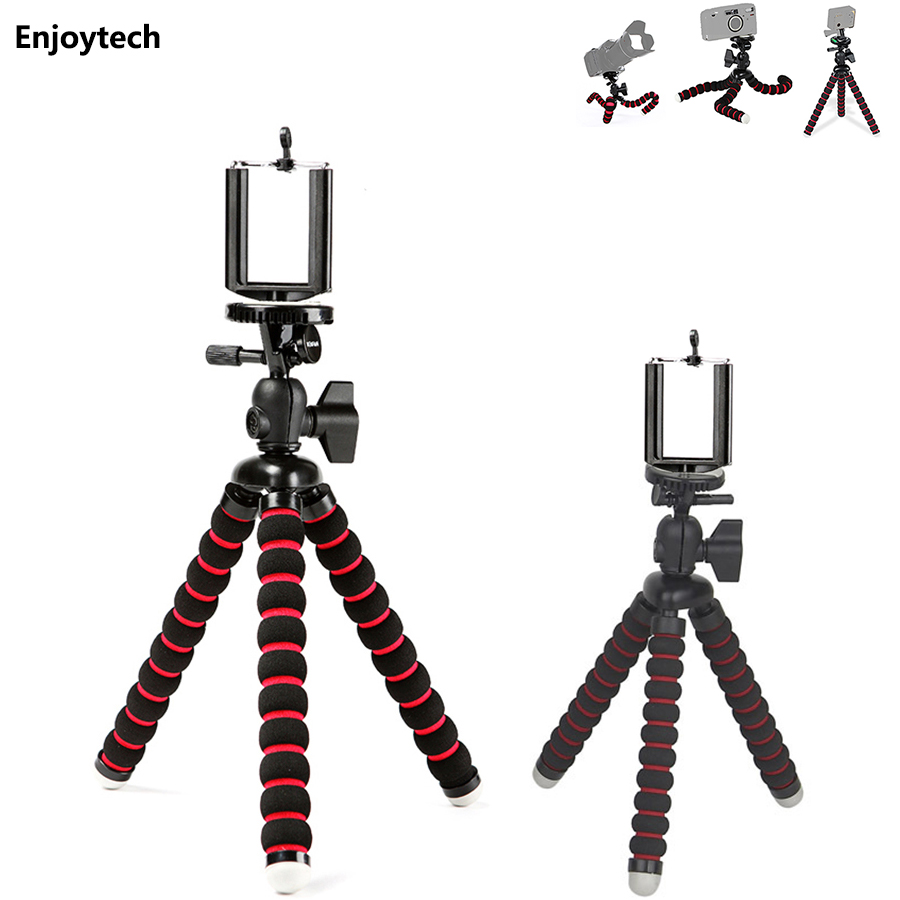 Mini Octopus Flexible Tripod with gradienter for Gopro DLSR Digital Camera Portable Mount Stand Gorillapod Holder 3-6inch Phones xgear 360 rotary desktop flexible neck clip holder for 3 5 6 3 cell phones white green 85cm