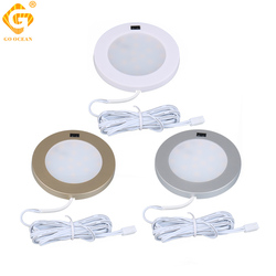 LED Under Cabinet Lighting LED Lamp Aluminum Sensor Motion IR Kitchen Cupboard Light Counter Lamps Round Puck Bookshelf Lights