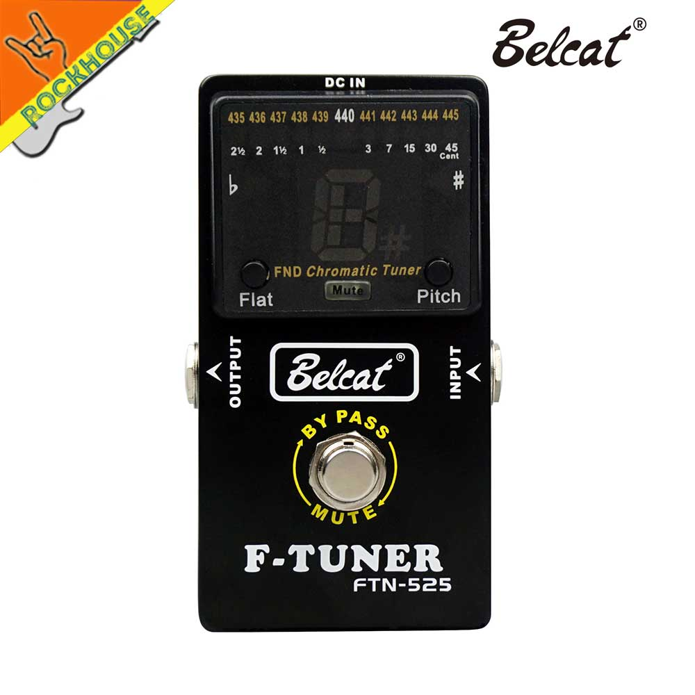 buy belcat guitar pedal tuner bass tuner guitarra effects pedal chromatic. Black Bedroom Furniture Sets. Home Design Ideas