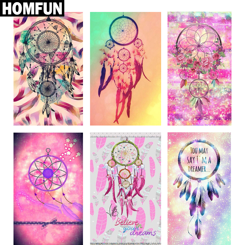 Zhui-Star-3D-Diy-Square-Diamond-Embroidery-Painting-Indian-Dream-catcher-of-Cross-Stitch-Resin-Full