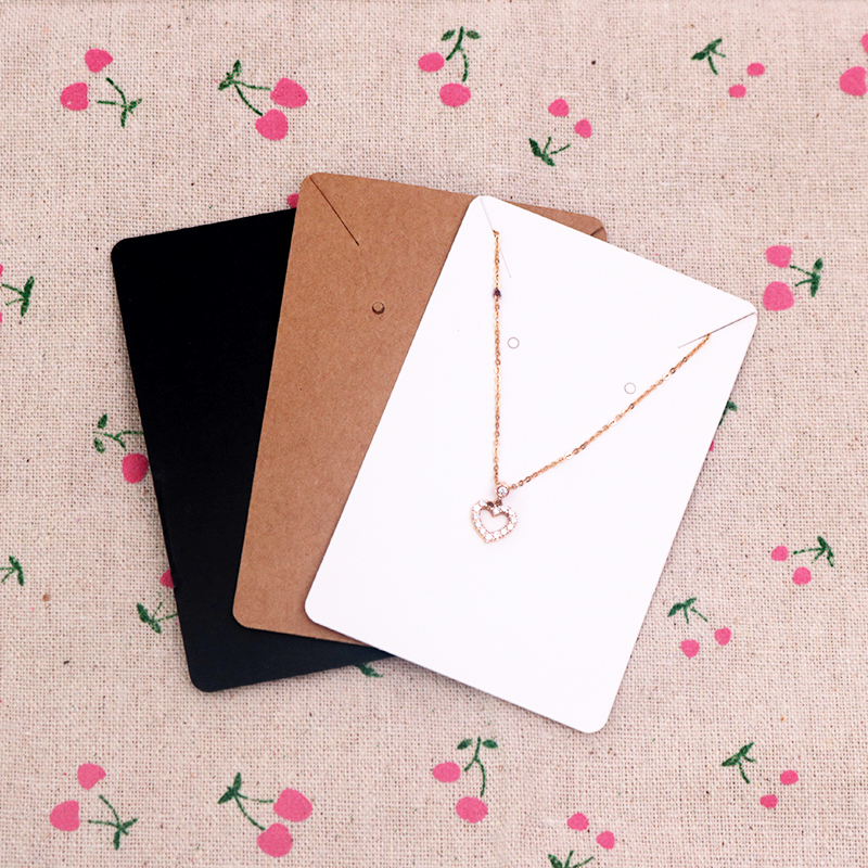High Quality 200Pcs/lot 6x9cm Kraft Jewelry Cards Paper Earrings Card Necklace Display Packaging Card Tags Can Custom Logo 200pcs lot 2sa950 y 2sa950 a950 to 92 transistors