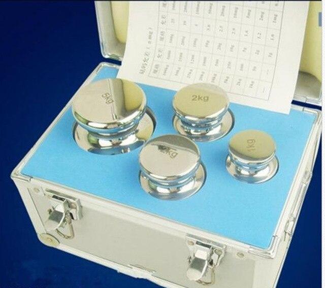 F1 Grade 1 kg-5 kg Précision D'étalonnage de L'échelle En Acier Inoxydable Poids Kit Ensemble