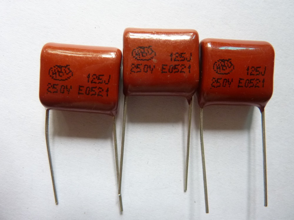 10pcs CBB 125 250V 125J CL21 1.2uF 1200nF P15 Metallized Polypropylene Film Capacitor