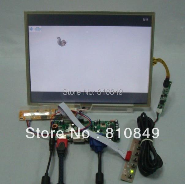 HDMI+DVI+VGA Control board+12.1inch 1024*768 HT121X01 LTN121XJ Lcd + Touch panel hdmi dvi vga control board 14inch 1366 768 bt140xw02 lcd panel with touch panel ltn140at07 lp140wh1 bt140xw02 ht140wxb