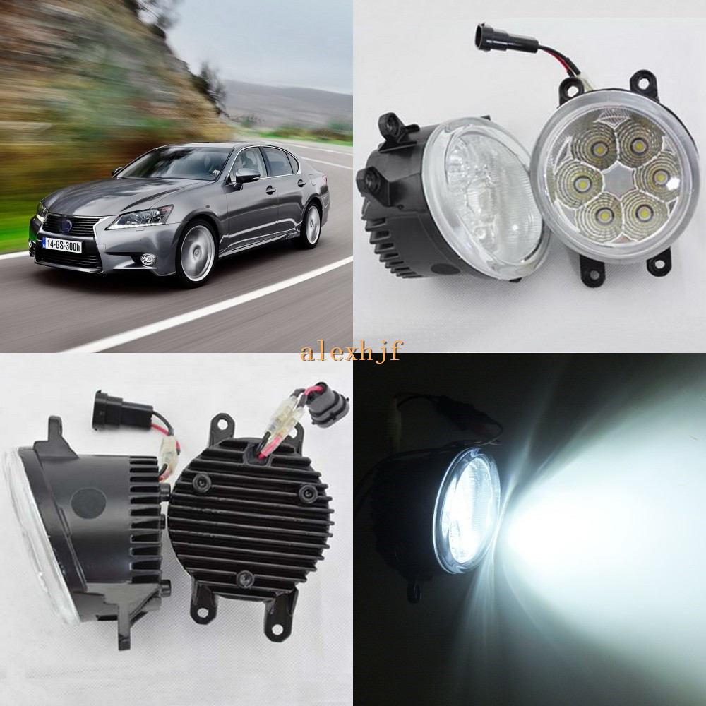 July King 18W 6500K 6LEDs LED Daytime Running Lights LED Fog Lamp case for Lexus GS350 / GS450h / GS460 2012-15, over 1260LM/pc july king 18w 6500k 6leds led daytime running lights led fog lamp case for peugeot 107 2012 2015 over 1260lm pc