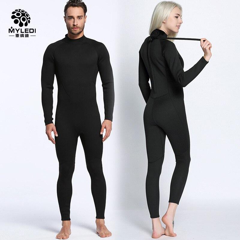 цена на Men Women's Diving Suit 2mm Full Body Wetsuit S-XXL Swimming Surfing Diving Snorkeling Suit Back Zip Jumpsuit MY057 Diving Suit