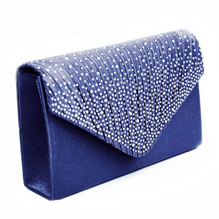Ladies Large Evening Satin Bridal Diamante Luxury Clutch Bag Party Prom Envelope Vintage Handbag Women 2018 Fashion Bags 10jul31 2