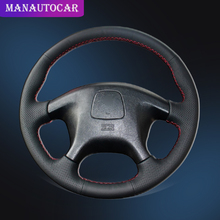 Car Braid On The Steering Wheel Cover for Mitsubishi Pajero Old Sport Auto Leather Covers Interior Car-styling