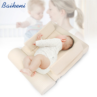 Baby Pillow Infant Sleep Mattress Cushion Baby Anti Spit Milk Positioning Pad Prevent Flat Head Shape Anti Roll Pillows Almohada