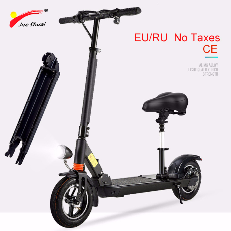 JS 36V <font><b>350W</b></font> 10inch <font><b>Electric</b></font> <font><b>Scooter</b></font> Powerful Brushless Motor Foldable Suitable Unisex Lithium Batterry Multifuncti Koowheel image