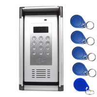 Access Control System GSM 3G Apartment Intercom Gate Opener with Waterproof Cover 5 pcs RFID Cards Supports Dial/RFID to Control