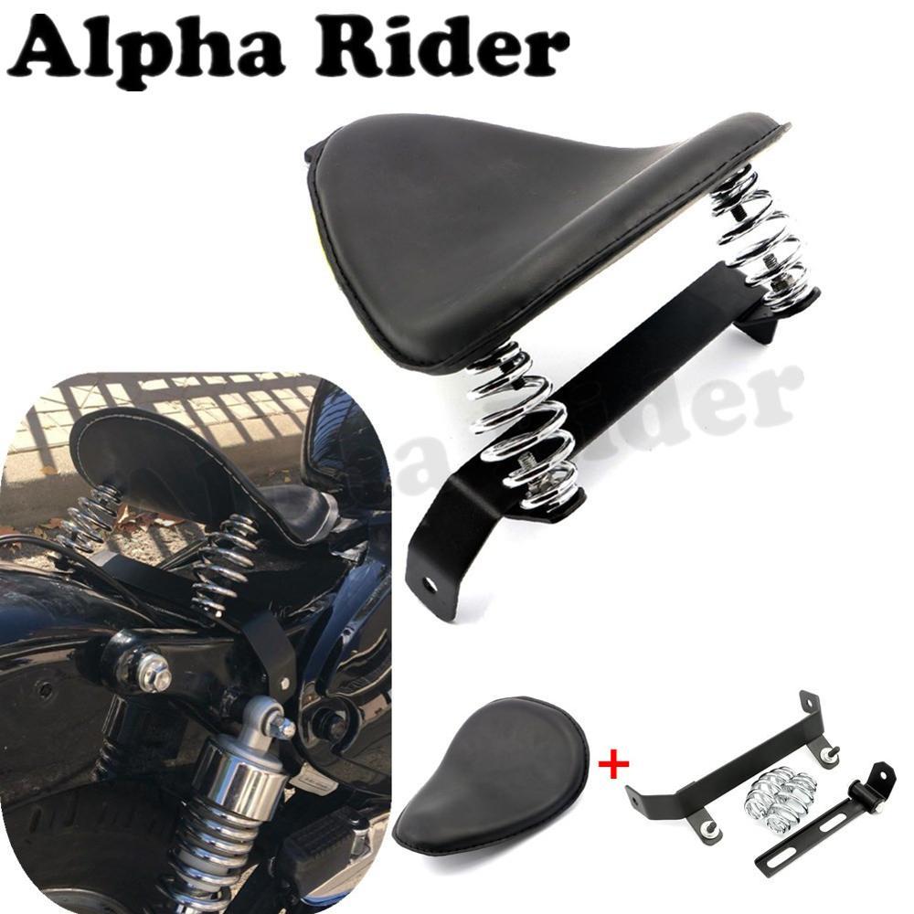 Driver Solo Seat& Mount Bracket for Yamaha V-Star Kawasaki Vulcan Harley Honda Steed 400 600 VT250 Shadow Bobber Chopper Cruiser