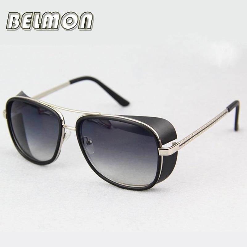 Steampunk brýle sluneční brýle Iron Man ženy značky Designer sluneční brýle pro muže dámy Punk UV400 Vintage žena RS205  t