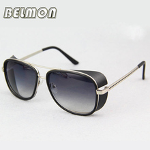 Steampunk Goggles Sunglasses Iron Man Women Brand Designer Sun Glasses For Male Ladies Punk UV400 Vintage Female  RS205