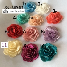 10 Pieces/lot mix color available 3d embroidered patches sewing for women  gowns 11 Colors in stock NEW