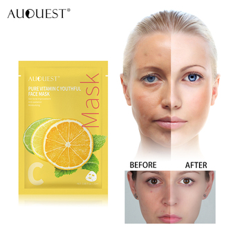 AuQuest Skin Care 1pc Vitamin C Facial Mask Moisturizing Whitening Blackhead Remover Wrapped Mask Face Masks for Face masks avene c54571 skin care mask strengthen moisturizing nutrition facial