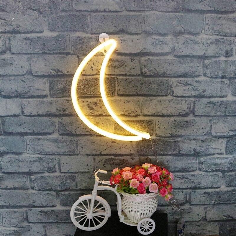 Jiaderui светодиодный в форме полумесяца неоновый свет ночь Таблица бра для Спальня украшения дома огни для детей творческие подарки на день ро...