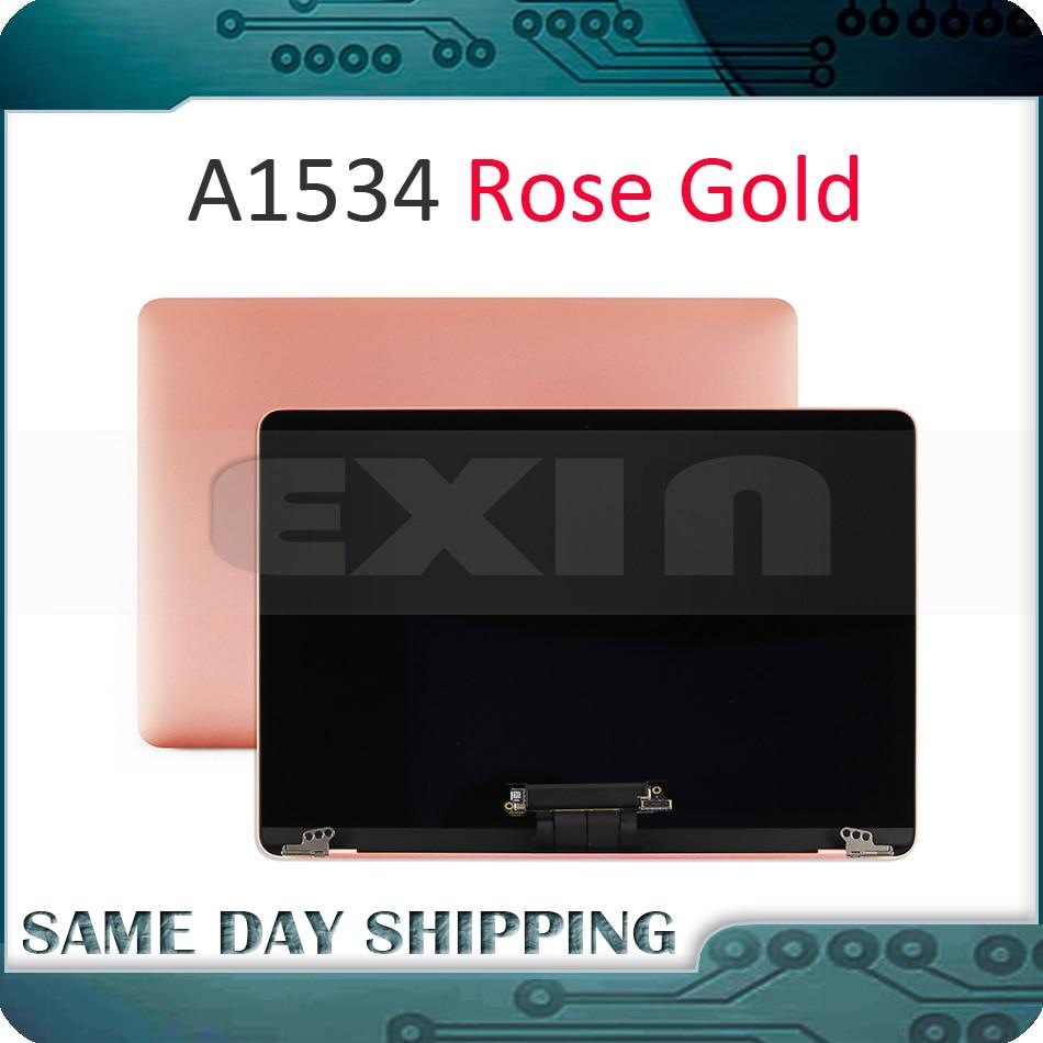 Véritable couleur or Rose A1534 LCD écran affichage LED assemblée complète pour Apple Macbook Retina 12