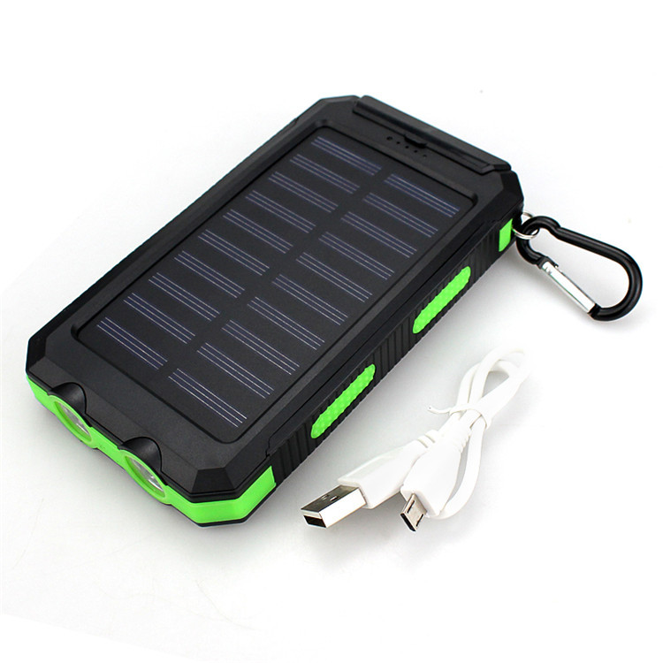 Top Waterproof Solar Power Bank 20000mah Dual USB Li-Polymer Battery for iPhone XR/XS/XS Max Xiao mi huawei vivo Samsung цена