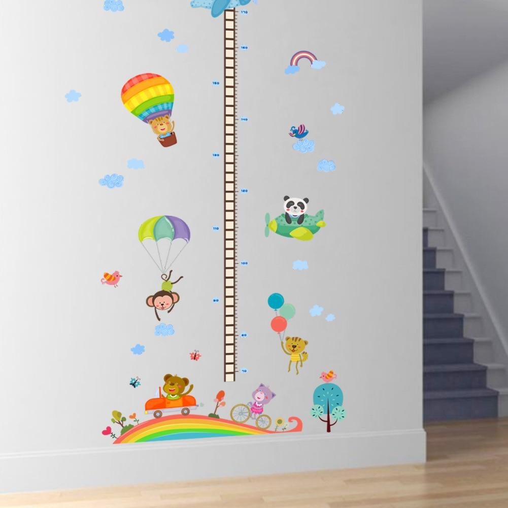 New hot air balloon pattern height wall sticks boy girl children ...