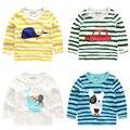 El chico de la gata de algodón camisa de manga larga T-shirt 2017 nuevos niños del resorte niños del bebé chaqueta U5838