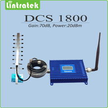 Full set  DCS 1800mhz Signal Booster repetidor de sinal celular Output Power 20dBm Gain 70dB DCS Signal Repeater Amplifier