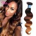 Ombre extensiones de cabello Pervian Virgin Hair Body Wave 3 unids 100 g cabello humano Ombre tres tonos humano peruano tejer productos para el cabello