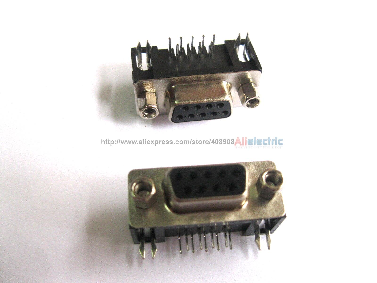 30 Pcs D Sub 9 Pin Female Connector with Right Angle