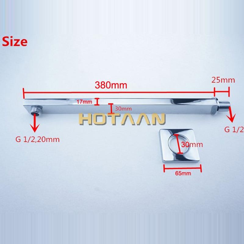Dusch-ausstattung Freies Verschiffen 38 Cm Länge Conseal Installieren Dusche Feste Anschluss Rohr Wand Montiert Dusche Arm Für Dusche Kopf Dusche Zubehör