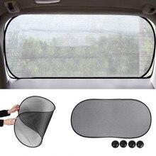 100*50 см черная марля цепляется на заднее стекло автомобиля УФ жалюзи козырек ветровое стекло солнцезащитные очки присоска крепление