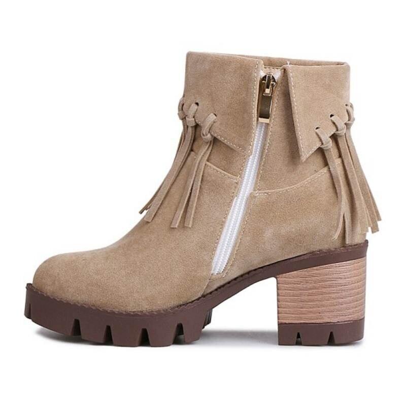Bottes et bottines TAOFFEN Women Fashion High Heel Combat