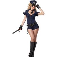 Festival Police Checkout Fancy Dress Halloween Costume Cosplay Costume Sexy Policewoman Costume With Hat For Women