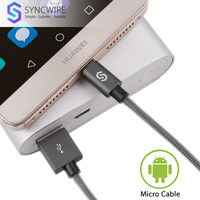 Syncwire Micro USB Cable Durable 2 Pack 1m 2m Nylon Braided Android Charger For Samsung Galaxy