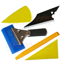 Useful 5 In 1 Car Window Film Tools Squeegee Scraper Set Kit Car Home Tint
