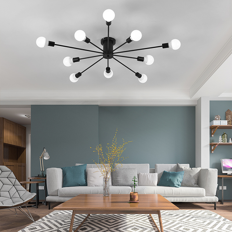 Modern art ceiling chandeliers Lamparas De Techo lustre Luminaria Abajur Ceiling Lamp Home Lighting Luminaire Living Room Lights 38w modern led ceiling lights for living room acrylic stainless ceiling lamp lustre lamparas de techo bar home lighting