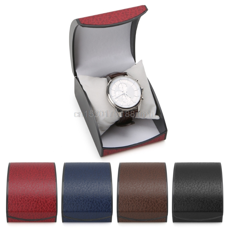 Luxury Wristwatch Box Display Case Gift For Jewelry Bracelet Faux Leather Holder