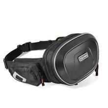 Bike Motorcycle Outdoor Travel Sport Unisex Black Adjustable Strap Waist Bag Backpack