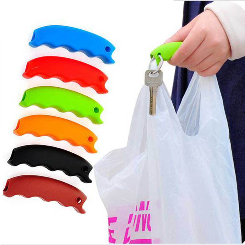 Hot 1 Pc Bag Carrying Handle Relaxed Carry Shopping Handle Bag Clips Tools Silicone Knob Handler Useful Kitchen Tools