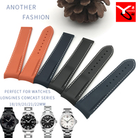 19/20/21/ 22mm Silicone Rubber WatchStrap Fashion Sport Watchband Curved End Suitable for Longines Comcast Omega Seamaster Watch
