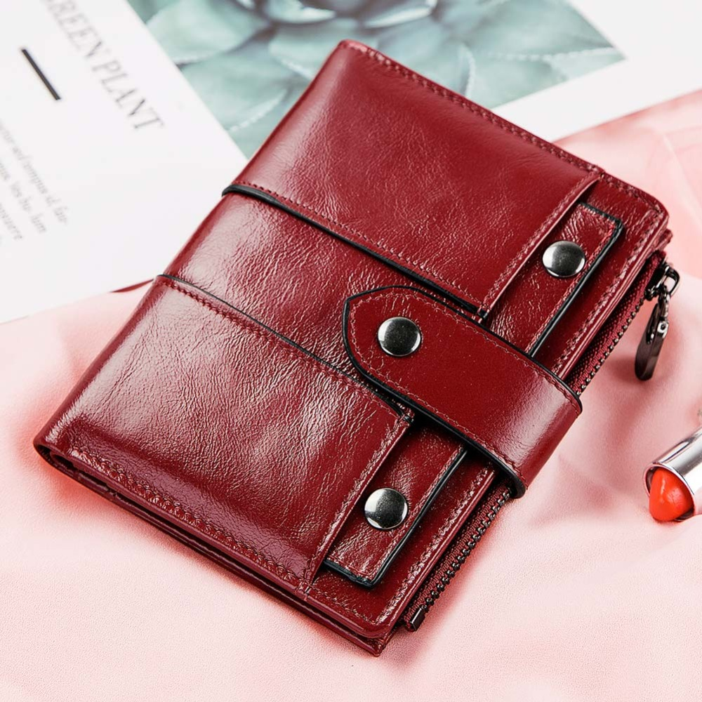 YICHENG 2018 Leather Wallet Women Hasp Small and Slim Coin P