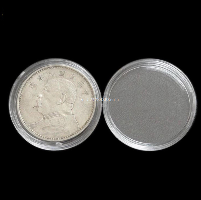 2000pcs 40mm Transparent Coincapsules For Coins Clear Coin Capsules Caps for US Presidential Sacagawea Dollar