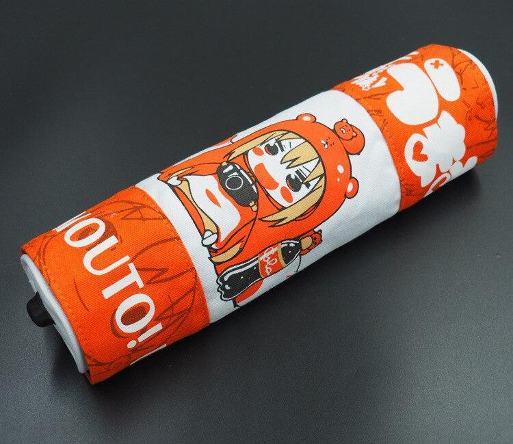 9.8/25cm Canvas Scroll Bag Printed With Anime Himouto! Umaru-chan Doma Umaru anime pu short yellow purse button wallet printed with doma umaru of himouto umaru chan