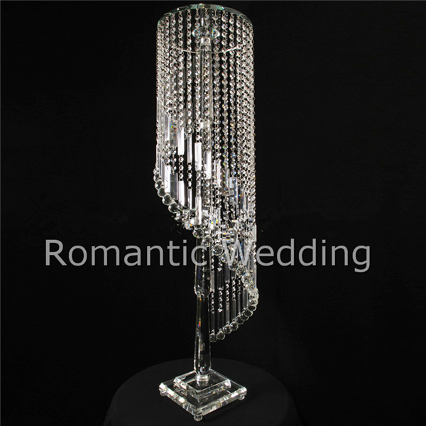 Free Shipment 4pcs Lots Crystal Spiral Chandelier Centerpieces For Wedding Decorations Event Products Party