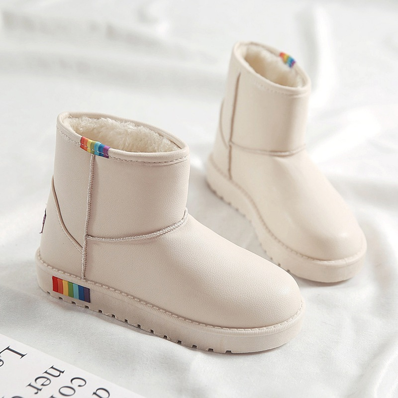 Fashion Classic Winter Ankle Snow Boots Women Waterproof Children Warm Plush Cotton Shoes Gilrs Antiskid Bottom Size 35-40