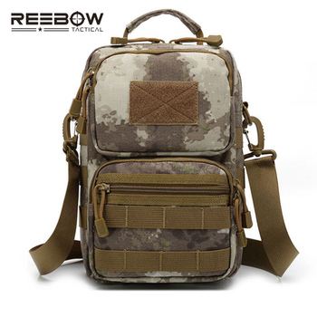 Tactical Military Single Shoulder Bag Outdoor Sports Men MOLLE Camouflage Messenger Sling Pack  Cycling Running Camping ARMY