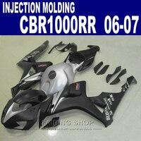 Abs Fairings For Honda Cbr 1000rr 06 07 Cbr1000rr 2006 2007 Silver Black Fit Fairing Kit