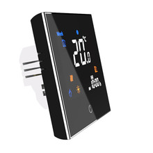 95~240VAC Colorful Letter Negative Screen 5+2 Weekly Programmable 16A Electric Underfloor Heating Room Thermostat without Wifi