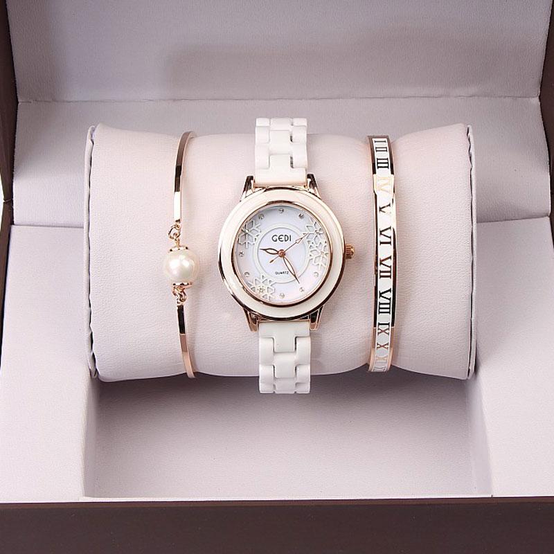 27a0b38e94c 3pc set Luxury Women Watch Famous Brands Gold Fashion Design Bracelet  Watches Ladies Women Wrist Watches Relogio Femininos-in Women s Watches  from Watches ...