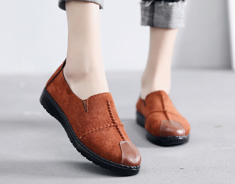 Plus Size Summer Women Flats Fashion Splice Flock Loafers Women Round Toe Slip On Leather Casual Shoes Moccasins New 2019 VT209 (11)