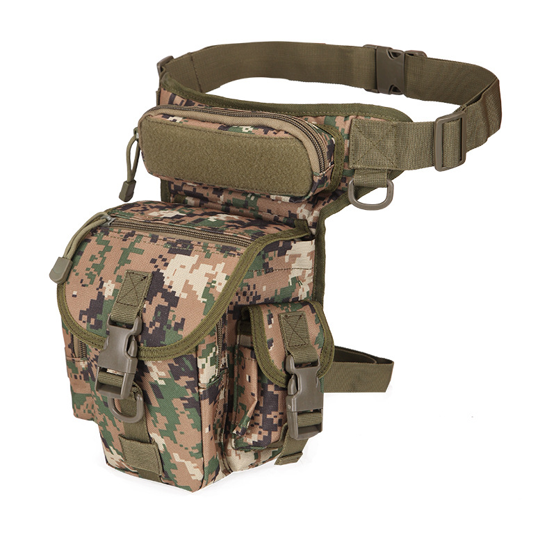 Jungle Camouflage Military Tactical Drop Leg Bag Tool Fanny Thigh Pack Hunting Bag Waist Pack Motorcycle Riding First Aid Kits